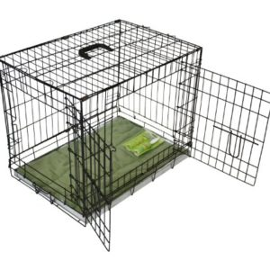 bunny business metal dog crate 2 doors with bedding and lint rollers, medium, 30-inch, black BUNNY BUSINESS Metal Dog Crate 2 Doors with Bedding and Lint Rollers, Medium, 30-inch, Black BUNNY BUSINESS Metal Dog Crate 2 Doors with Bedding and Lint Rollers Medium 30 inch Black 0 300x300