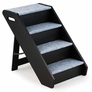 costway foldable wooden pet stair, 4 steps, short plush carpeted, dog step ladder with handle for high bed, chair, couch, sofa, truck, car COSTWAY Foldable Wooden Pet Stair, 4 Steps, Short Plush Carpeted, Dog Step Ladder with Handle for High Bed, Chair, Couch… COSTWAY Foldable Wooden Pet Stair 4 Steps Short Plush Carpeted Dog Step Ladder with Handle for High Bed Chair Couch Sofa Truck Car 0 300x300