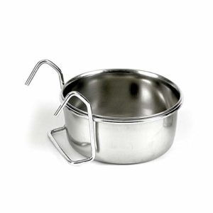 classic pet products coop cup stainless steel fixed feeding bowl , 600 ml Classic Pet Products Coop Cup Stainless Steel Fixed Feeding Bowl , 600 ml Classic Pet Products Classic Steel Hook On Coop Cup 0 300x300