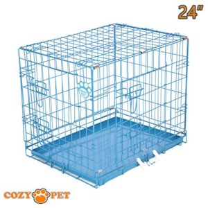 """cozy pet dog cages in 5 sizes 24"""", 30"""", 36"""", 42"""", 48"""" & 54"""" beige, black, blue, green, pink & silver metal trays dog crate puppy cage cat carrier Cozy Pet Dog Cage with High-Quality Metal Tray Cozy Pet Dog Cages in 5 Sizes 24 30 36 42 48 54 Beige Black Blue Green Pink Silver Metal Trays Dog Crate Puppy Cage Cat Carrier 0 300x300"""