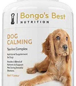 dog calming by bongo's best - premium taurine complex | relaxing natural supplement for dogs | helps with separation anxiety, stress, travel, motion sickness & nervousness | combats fear & aggression Dog Calming by Bongo's Best – Premium Taurine Complex | Relaxing Natural Supplement for Dogs | Helps with Separation… Dog Calming by Bongos Best Premium Taurine Complex Relaxing Natural Supplement for Dogs Helps with Separation Anxiety Stress Travel Motion Sickness Nervousness Combats Fear Aggression 0 266x300