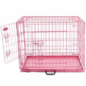 easipet foldable pink metal dog puppy cage crate in 4 sizes Easipet Foldable Pink Metal Dog Puppy Cage Crate in 4 Sizes (20″ Pink Cage) Easipet Foldable Pink Metal Dog Puppy Cage Crate in 4 Sizes 0 300x300