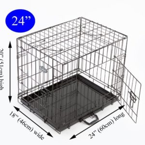 easipet puppy cage for dog Easipet Dog Puppy XXLarge Black Metal Training Cage Crate 48 Easipet Puppy Cage for Dog 0 300x300