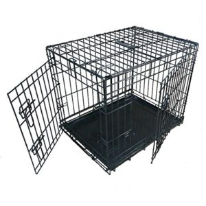 ellie-bo dog puppy cage folding 2 door crate with non-chew metal tray small 24-inch Ellie-Bo Dog Puppy Cage Folding 2 Door Crate with Non-chew Metal Tray Small 24-inch Ellie Bo Dog Puppy Cage Folding 2 Door Crate with Non chew Metal Tray Small 24 inch 0 300x300