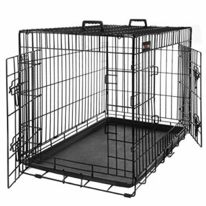 feandrea dog puppy cage foldable metal pet carrier 2 doors with tray l-xxxl FEANDREA Dog Cage, Foldable Dog Crate, Pet Carrier with 2 Doors, Black PPD30H FEANDREA Dog Puppy Cage Foldable Metal Pet Carrier 2 Doors with Tray L XXXL 0 300x300