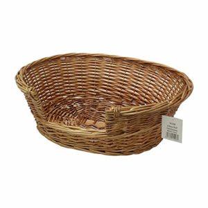 "jvl willow, 58 x 49 x 20 cm JVL Pet Basket Willow, 58 x 49 x 20 cm with JVL ""Paws"" Pet Animal Feeding Mat, Synthetic, Beige, 40 x 70 cm JVL Willow 58 x 49 x 20 cm 0 300x300"