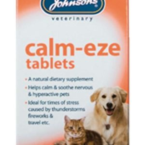 johnsons calm-eze tablets for cats & dogs 30g - 36 capsules Johnsons Calm-Eze Tablets for Cats & Dogs 30g – 36 Capsules Johnsons Calm Eze Tablets for Cats Dogs 30g 36 Capsules 0 300x300