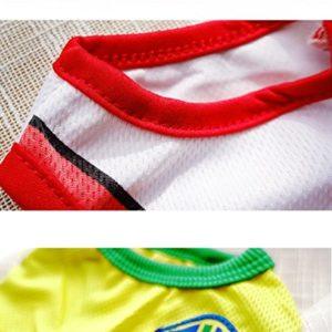 kaymayn clothing for small dogs, football dog jersey shirt for dog costumes world cup team clothing pet dog clothes, world cup santa costume dress, s-6xl KayMayn Clothing for Small Dogs, Football Dog Jersey Shirt for Dog Costumes World Cup Team Clothing Pet Dog Clothes… KayMayn Pet Jersey Football Licensed Dog Jersey Comes in 6 SizesDog Clothes Football T shirt Dogs Costume National Soccer World CupOutdoor Sportswear Summer Breathable 0 8 300x300