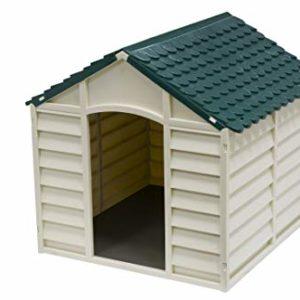 kitgarden keny large dog kennel, green/beige KG Kitgarden – Garden Dog Shed, 84 x 86 x 82 cm, Green/Beige, Keny Large KitGarden Keny Large Dog Kennel GreenBeige 0 300x300