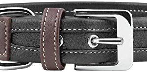 knuffelwuff midpines leather dog collar, Knuffelwuff Midpines Leather Dog Collar, 30-37 cm, Black Knuffelwuff Midpines Leather Dog Collar 0 300x148