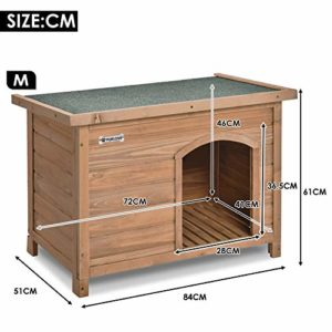 purlove medium dog kennel solid wooden outdoor/indoor dog/pet house garden crate with removable floor and openable slanted roof for easy cleaning weatherproof asphalt (m) PURLOVE Medium Dog Kennel Solid Wooden Outdoor/Indoor Dog/Pet House Garden Crate with Removable Floor and Openable… P PURLOVE Wooden Dog Kennel for Outdoor Garden Indoor 0 300x300