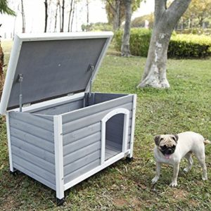 petsfit insulated wooden dog kennel with removable floor for easy cleaning, wooden kennel pitch roof, outdoor wood dog kennel and shelter Petsfit Indoor Dog House with Iron Gate, Wooden Dog Shelter, Grey Color, 80cm x 54cm x 53cm Petsfit Insulated Wooden Dog Kennel with Removable Floor for Easy Cleaning Wooden Kennel Pitch Roof Outdoor Wood Dog Kennel and Shelter 0 300x300