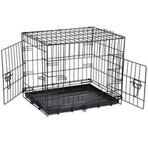 savingplus 2 doors folding metal dog crate pet cage puppy carrier SavingPlus 2 Doors Folding Metal Dog Crate Pet Cage Puppy Carrier (XXLarge 48″) SavingPlus 2 Doors Folding Metal Dog Crate Pet Cage Puppy Carrier 0 300x300