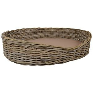 wovenhill wicker pet beds Wovenhill Kubu Wicker Extra Large Rectangle Pet Bed W89 x D69 x H22cm Wovenhill Wicker Pet Beds 0 300x300
