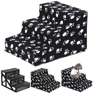 yaheetech plush covered pet stairs 3 soft steps for dog cat, washable cover ramp, black claw Yaheetech Plush Covered Pet Stairs 3 Soft Steps for Dog Cat, Washable Cover Ramp, Black Claw Yaheetech Plush Covered Pet Stairs 3 Soft Steps for Dog Cat Washable Cover Ramp Black Claw 0 300x300