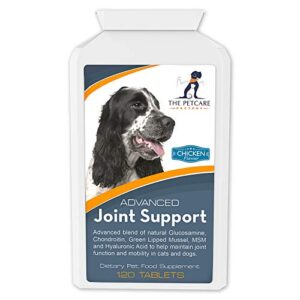 advanced joint support supplement for dogs, with powerful glucosamine, chondroitin, green lipped mussel, msm, curcumin & hyaluronic acid, human grade ingredients, 120 tablets, uk manufactured Advanced Joint Support Supplement For Dogs, With Powerful Glucosamine, Chondroitin, Green Lipped Mussel, MSM, Curcumin… Advanced Joint Support Supplement For Dogs With Powerful Glucosamine Chondroitin Green Lipped Mussel MSM Curcumin Hyaluronic Acid Human Grade Ingredients 120 Tablets UK Manufactured 0 300x300