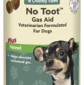 overby farm no toot for dogs soft chews supplement | digestive aid for tummy gas & bloating relief | stomach health & digestion support for dogs | anti-flatulence & diarrhea | 60 chews Overby Farm No Toot Soft Chews for Dogs, 60-Piece, 132 g Overby Farm No Toot For Dogs Soft Chews Supplement Digestive Aid for Tummy Gas Bloating Relief Stomach Health Digestion Support for Dogs Anti Flatulence Diarrhea 60 Chews 0 296x300