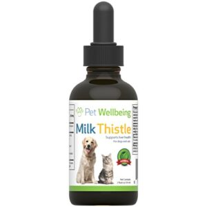 pet wellbeing - milk thistle for dogs - natural support for canine liver health - 2oz (59ml) Pet Wellbeing – Milk Thistle For Dogs – Natural Glycerin Based Milk Thistle For Dogs – 2 Ounce (59 Milliliter) Pet Wellbeing Milk Thistle for Dogs Natural Support for Canine Liver health 2oz 59ml 0 300x300