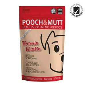 pooch and mutt supplement for dogs Pooch & Mutt – Health Supplement for Dog Digestion (Healthy Skin, Glossy Coat & Solid Stools) – Bionic Biotic, 200g Pooch and Mutt Supplement for Dogs 0 300x300