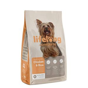 amazon brand - lifelong - complete dry dog food (small breeds) rich in chicken & rice, 1 pack of 10 kg Amazon Brand – Lifelong – Complete Dry Dog Food for adult dogs (Small Breeds) with Salmon & Rice, 1 Pack of 10 kg Amazon Brand Lifelong Complete Dry Dog Food 0 300x300