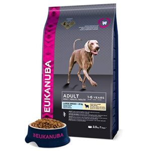 eukanuba adult breed lamb and rice dry dog food large, 2.5 kg Eukanuba Mature Dog Food For Large Dogs Rich in Fresh Chicken For the Optimal Body Condition of Your Dog 3kg Eukanuba Dog Food For Large Dogs Rich In Fresh Chicken 0 300x300