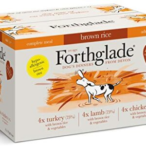 forthglade natural complete wet dog food with brown rice variety pack 395 g (pack of 12) Forthglade Complete Natural Wet Dog Food – Brown Rice Variety Pack (12 x 395 g) Trays – Turkey, Lamb & Chicken Forthglade Natural Complete Wet Dog Food with Brown Rice Variety Pack 395 g Pack of 12 0 300x300
