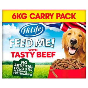hilife feed me! dog food HILIFE Feed Me! Beef and Fresh Vegetables with Cheese Dog Food, 2 kg HiLife Feed Me Dog Food 0 300x300