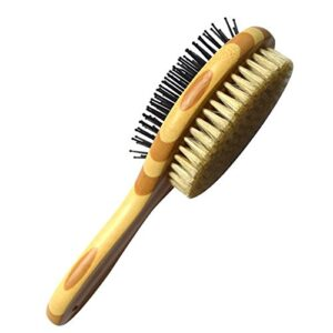 iceblueor pet comb, professional double sided pin & bristle bamboo brush for dogs & cats, grooming comb cleans pets shedding & dirt for short medium or long hair Dog Brush, ICEBLUEOR Pet Comb Professional Double Sided Pin & Bristle Bamboo Massage Brush for Dogs & Cats with Long or… ICEBLUEOR Pet Comb Professional Double Sided Pin Bristle Bamboo Brush for Dogs Cats Grooming Comb Cleans Pets Shedding Dirt for Short Medium or Long Hair 0 300x300