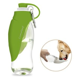lumoleaf water bottle for dogs, reversible & lightweight portable dog water bottle, 20 oz pet travel water bottle (grey/green) LumoLeaf LWL1PK01 Portable Pet Water Bottle, Reversible & Lightweight Water Dispenser for Dogs and Cats, Made of Food… LumoLeaf Water Bottle for Dogs Reversible Lightweight Portable Dog Water Bottle 20 Oz pet travel water bottle GreyGreen 0 300x300