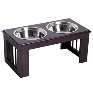 pawhut stainless steel pet feeding bowl raised elevated twin dog bowls water food feeder 58.4l x 30.5w x 25.4h cm - brown PawHut Stainless Steel Pet Feeding Bowl Raised Elevated Twin Dog Bowls Water Food Feeder 58.4L x 30.5W x 25.4H cm… Pawhut Stainless Steel Pet Feeding Bowl Raised Elevated Twin Dog Bowls Water Food Feeder 584L x 305W x 254H cm Brown 0 300x300