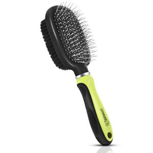 pecute double sided pet grooming brush - 2 in 1 pin & bristle soft brush - daily use to clean loose fur & dirt - great for dogs and cats with short medium long hair Pecute Double Sided Pet Grooming Brush – 2 in 1 Pin & Bristle Soft Brush – Daily Use to Clean Loose Fur & Dirt – Great… Pecute Double Sided Pet Grooming Brush 2 in 1 Pin Bristle Soft Brush Daily Use to Clean Loose Fur Dirt Great for Dogs and Cats With Short Medium Long Hair 0 300x300
