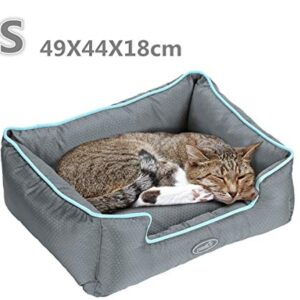 pecute water resistant pet bed for cats and small medium dogs detachable rectangle cuddler pet sleeper machine washable Pecute Water Resistant Pet Bed for Cats and Puppies Removable Machine Washable Scratch Proof (49 x 44 x 18cm, Grey) Pecute Water Resistant Pet Bed for Cats and Small Medium Dogs Detachable Rectangle Cuddler Pet Sleeper Machine Washable 0 300x300