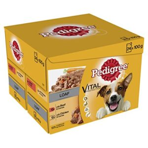pedigree vital protection - wet dog food pouches Pedigree Dog Pouches – Mixed Selection in Loaf 100 g (Pack of 4 x 12) Pedigree Vital Protection Wet Dog Food Pouches 0 300x300