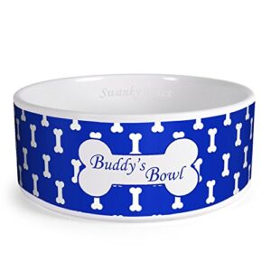swanky paws personalised bones pattern custom design dog bowl cat pet food dinner dish (xs, blue) Swanky Paws Personalised Bones Pattern Custom Design Dog Bowl Cat Pet Food Dinner Dish (Small, Blue) Swanky Paws Personalised Bones Pattern Custom Design Dog Bowl Cat Pet Food Dinner Dish 0 300x300
