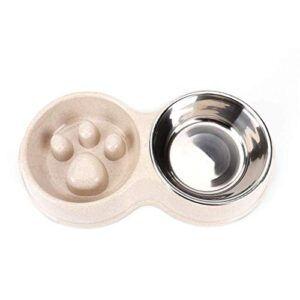 tineer double pet dog slow feeder bowl,stainless steel anti-choke puppy food and water feeder for dog cats Tineer Double Pet Dog Slow Feeder Bowl,Stainless Steel Anti-choke Puppy Food and Water Feeder for Dog Cats (White) Tineer Double Pet Dog Slow Feeder BowlStainless Steel Anti choke Puppy Food and Water Feeder for Dog Cats 0 300x300