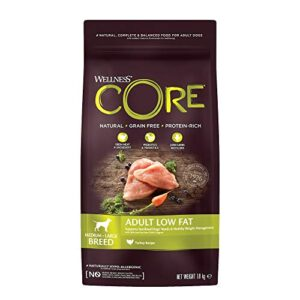 wellness core dog dry grain-free food Wellness CORE Low Fat/Healthy Weight Dog Food Dry, Grain Free – Turkey, 1.8 kg Wellness CORE Dog Dry Grain Free Food 0 300x300
