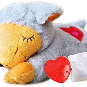 all for paws puppy behavioral aid heart beat warm toy, dog anxiety sleep toys(one heartbeat one warm pack-grey ALL FOR PAWS Snuggle Sheep Pet Behavioral Aid Toy Plush Toy (ONE HEARTBEAT ONE WARM PACK, Gray) ALL FOR PAWS Puppy Behavioral Aid Heart Beat Warm Toy Dog Anxiety Sleep ToysONE HEARTBEAT ONE WARM PACK Grey 0 300x300