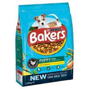 bakers puppy dry dog food chicken & veg, 2.85kg Bakers Puppy Dry Dog Food Chicken & Vegetables, 2.85kg Bakers Puppy Dry Dog Food Chicken Veg 285kg 0 300x300