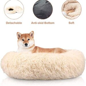 docatgo plush pet bed for cats and small medium dogs cuddler, soft cushion round bed pet cat bed for cats Docatgo Dog Cat Bed, 60 x 60 cm Doughnut Beds, Faux Fur Plush Lint Christmas Toy Soft Fluffy Bed, Washable&Comfort,Gift… Docatgo Plush Pet Bed for Cats and Small Medium Dogs Cuddler Soft Cushion Round Bed Pet Cat Bed for Cats 0 300x300