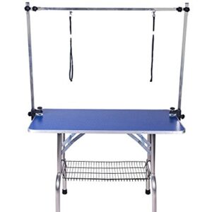 dog grooming table 2 noose,julyfox fold up pet grooming table with storage mesh tray arm clamp adjustable height 150 kg heavy duty portable grooming table for small medium large dogs cats JULYFOX Dog Grooming Table 2 Noose, 36 inch Fold Up Pet Grooming Table With Storage Mesh Tray Arm Clamp Adjustable… Dog Grooming Table 2 NooseJULYFOX Fold Up Pet Grooming Table With Storage Mesh Tray Arm Clamp Adjustable Height 150 KG Heavy Duty Portable Grooming Table For Small Medium Large Dogs Cats 0 300x300