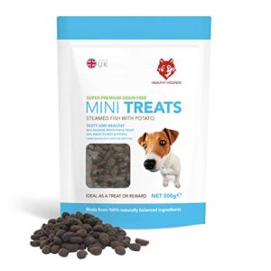 grain free training treats for dogs 500g - 1000 treat resealable pack - healthy hounds - 80% steamed fish, 20% potato & sweet potato - puppy training, dog training - big value - contain omega 3, 6, 9 for skin, coat and joints Healthy Hounds Grain Free Dog Training Treats 5 x 500g 80% Fresh Fish 20% Potato & Sweet Potato | High in Omega 3, 6… Grain Free Training Treats for Dogs 500g 1000 Treat Resealable Pack Healthy Hounds 80 Steamed Fish 20 potato sweet potato Puppy Training Dog Training BIG VALUE Contain Omega 3 6 9 for skin coat and jo 0 300x300