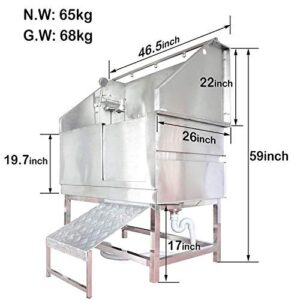 """gravitis pet supplies professional stainless steel dog bath – 46"""" walk-in tub for professional pet groomers, includes shower attachment, access ramp and accessories Gravitis Pet Supplies Professional Stainless Steel Dog Bath – 46"""" Walk-In Tub for Professional Pet Groomers, includes… Gravitis Pet Supplies Professional Stainless Steel Dog Bath  46 Walk In Tub for Professional Pet Groomers includes Shower Attachment Access Ramp and Accessories 0 300x300"""