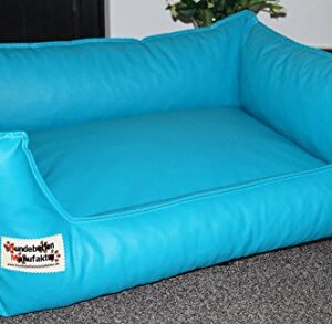 acceso dog bed/sofa artificial leather 50 cm x 40 cm turquoise Hundebettenmanufaktur Acceso Dog Bed/Sofa Artificial Leather 50 cm X 40 cm Turquoise Hundebettenmanufaktur Acceso Dog BedSofa Artificial Leather and Sizes XS to XXL 0 300x293
