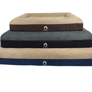 on paws 'sleep easy bed' brown, size m orthopaedic memory foam dog bed machine washable On Paws 'Sleep Easy Bed' Black, Size M Orthopaedic Memory Foam Dog Bed machine washable On Paws Premium Sleep Easy Orthopaedic Memory Foam Dog Bed 3 Sizes 0 300x300