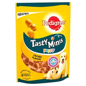 pedigree tasty bites - dog treats chewy cubes with chicken Pedigree Tasty Minis – Puppy Treats, Chewy Cubes with Chicken, Pack of 8 x 125 g Pedigree Tasty Bites Dog Treats Chewy Cubes with Chicken 0 300x300