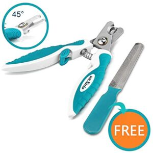 professional dog nail clippers for small medium large dog breeds-with quick safety guard to avoid overcutting-unique 45 ° tip blades-free nail file included Professional Dog Nail Clippers For Small Medium Large Dog Breeds-With Quick Safety Guard to Avoid Overcutting-Unique 45… Professional Dog Nail Clippers For Small Medium Large Dog Breeds With Quick Safety Guard to Avoid Overcutting Unique 45  Tip Blades Free Nail File Included 0 300x300