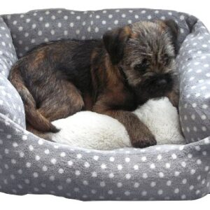 rosewood 40 winks small dog/ cat sleeper bed, 16-inch, grey/ cream spot 40 Winks One size dog bed for indoor cats, kittens, puppies and small dogs, machine washable, super soft and cosy plush… Rosewood 40 Winks Small Dog Cat Sleeper Bed 16 inch Grey Cream Spot 0 300x300