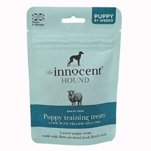the innocent pet care company puppy training treats - lamb with yellow split pea treats for dogs 70g Innocent Hound Grain Free Puppy Training Treats Lamb With Yellow Split Pea 70G The Innocent Pet Care Company Puppy Training Treats Lamb with Yellow Split Pea Treats for Dogs 70g 0 300x300