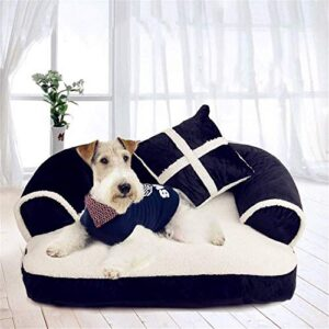 wdmsn dog bed dog sofa cozy plush pet settee heavy duty durable removable washable cover relief and improved sleep for cats and small medium dogs puppies black and white m l - send pillow,m WDMSN Dog Bed Dog Sofa Cozy Plush pet Settee Heavy Duty Durable Removable Washable Cover Relief and Improved Sleep for… WDMSN Dog Bed Dog Sofa Cozy Plush pet Settee Heavy Duty Durable Removable Washable Cover Relief and Improved Sleep for Cats And Small Medium Dogs Puppies Black And White M L Send PillowM 0 300x300