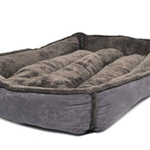 """wolfybeds large padded fleece dog bed in slate grey (36"""" x 24"""") washable covers Wolfybeds Large Padded Luxury Fleece Dog Bed Limited Edition in turquioseoceans (36″ x 24″) washable covers Wolfybeds Large Padded Fleece Dog Bed in Slate Grey 36 x 24 washable covers 0 300x300"""